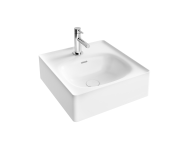 "7240B403-0631 - ""Equal Bowl Washbasin 43 cm, bowl washbasin, one tap hole, with overflow hole"""