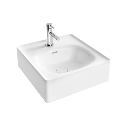 """Equal Bowl Washbasin 43 cm, bowl washbasin, one tap hole, with overflow hole"""