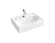 "7241B403-0001 - ""Equal Washbasin 60 cm washbasin, one tap hole, with overflow hole"""