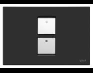 740-0111 - Twin² Pneumatic Control Panel, Matt Black