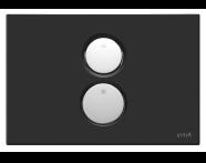 740-0211 - Twin O Pneumatic Control Panel, Matt Black