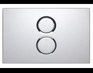 740-0280 - Twin O Pneumatic Control Panel, Chrome