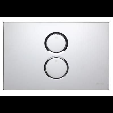 Twin O Pneumatic Control Panel, Chrome