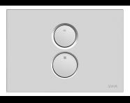 740-0285 - Twin O Pneumatic Control Panel, Matt Chrome