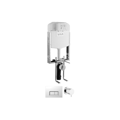 Standard Installation-Non-Adjustable Metal Brackets Set For  Wall-Hung Wc Pans, Panel, Stop Valve