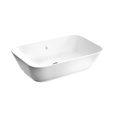 """Geo Soft-Square Bowl 60 cm, soft-square bowl, without tap hole, with overflow hole"""
