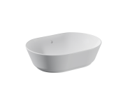 "7427B003-0012 - ""Geo Oval Bowl 55 cm, oval bowl, without tap hole, with overflow hole"""