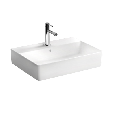 """Nuo Washbasin Washbasin, With tap hole, with overflow hole, back side glazed, for countertop use"""