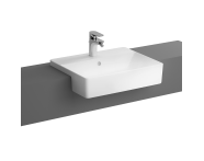 "7433B003-0001 - ""Nuo Semi-recessed basin Semi-recessed basin, with tap hole, with overflow hole"""