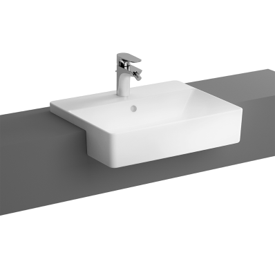 """""""Nuo Semi-recessed basin Semi-recessed basin, with tap hole, with overflow hole"""""""