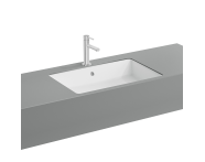 "7434B003-0012 - ""Nuo Square Bowl Washbasin bowl, Without tap hole, with overflow hole"""