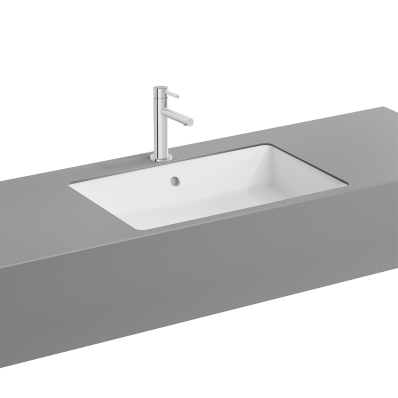 """Nuo Square Bowl Washbasin bowl, Without tap hole, with overflow hole"""