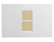 748-0102 - Twin2 Panel- White + Gold button