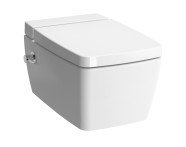 7672B003-1587 - Metropole Rim-ex Wall-hung WC pan, with bidet function, with thermostatic integrated stop valve (on right), with VitrAfresh liquid cleaner tank