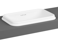 7800B003-0012 - Countertop Basin, No Tap Hole, Overflow Hole, 58 cm