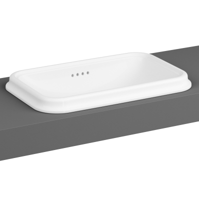 Countertop Basin, No Tap Hole, Overflow Hole, 58 cm