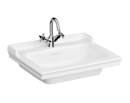 7801B003-6171 - Vanity Basin, 65 cm, One Tap Hole, With Overflow Hole, With Metallic Legs