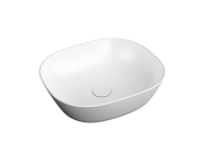"7810B401-0016 - ""Plural Square low bowl basin 45 cm, without tap hole, without overflow hole"""