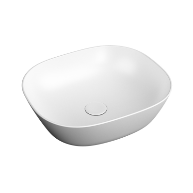 """""""Plural Square low bowl basin 45 cm, without tap hole, without overflow hole"""""""