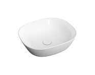 "7810B403-0016 - ""Plural Square low bowl basin 45 cm, without tap hole, without overflow hole"""