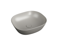 "7810B420-0016 - ""Plural Square low bowl basin 45 cm, without tap hole, without overflow hole"""