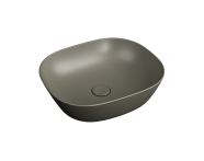 "7810B450-0016 - ""Plural Square low bowl basin 45 cm, without tap hole, without overflow hole"""