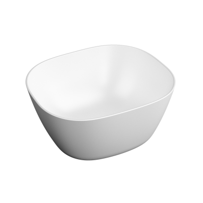 """""""Plural Square high bowl basin 45 cm, without tap hole, without overflow hole"""""""