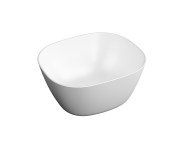 """7811B401H0016 - """"Square high bowl, 45 cm Without tap hole, without overflow hole (Matte white)"""""""