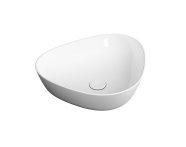 "7812B403-0016 - ""Plural Triangular low bowl basin 45 cm, without tap hole, without overflow hole"""