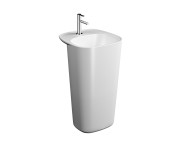 """7814B401H0001 - """"Monoblock Washbasin, With tap hole, with overflow hole (Matte white)"""""""