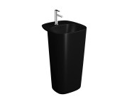 "7814B483-0001 - ""Plural Monoblock Washbasin 50 cm, with tap hole, with overflow hole"""