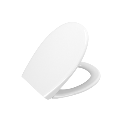 Universal Toilet Seat Model 2 - Round Form  (Duroplast, Soft-Closing, Detachable Metal Hinge, Top Fixing)