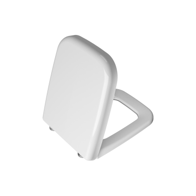 WC Seat, Duroplast, Soft-Closing, Detachable Metal Hinge, Top Fixing, White, Quick Release