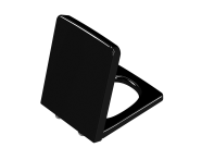 96-070-009 - Frame Toilet Seat, Soft Closing, Top Fixing, Black