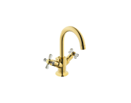 A41661IND - Juno Crystals from Swarovski Elements Basin Mixer (with Pop-Up)