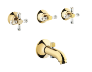 A41696IND - Juno Crystals from Swarovski Elements  Built-in Bath/Shower Mixer (with Handshower Outlet)