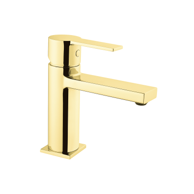 Flo S Basin Mixer,  Gold