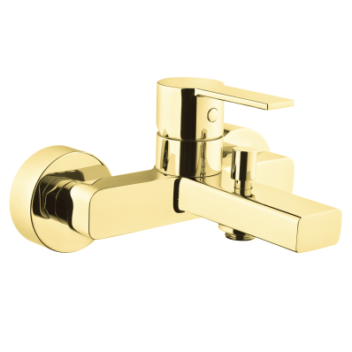 Flo S Bath/Shower Mixer,  Gold