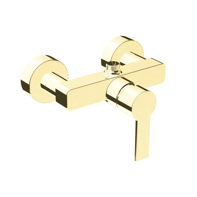 Flo S Shower Mixer,  Gold