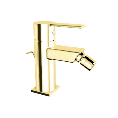 Flo S Bidet Mixer , With Pop-Up, Gold