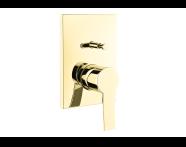 A4221223 - Flo S Ankastre Banyo Bataryası  (Sıva Üstü Grubu), Altın