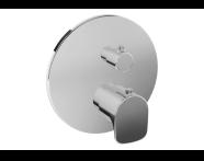 A42270 - X - Line Ankastre Termostatik Banyo Bataryası (V-Box Sıva Üstü Grubu), Krom
