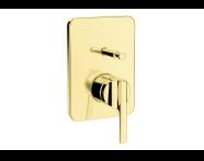 A4228623 - Suit U Ankastre Banyo Bataryası (Sıva Üstü Grubu), Altın