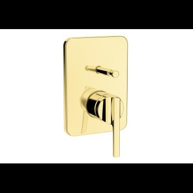 Suit Built-In Bath/Shower Mixer, Exposed Part, Gold