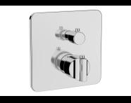 A42291 - Suit Ankastre Termostatik Duş Bataryası (V-Box Sıva Üstü Grubu), Krom