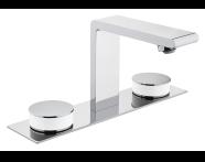A4231557VUK - Memoria Basin Mixer, Round Handles, 3 Tap Hole