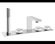 A4231657VUK - Memoria Deck-Mounted Basin Mixer, Round Handles,  5 Tap Hole