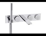A4231757VUK - Memoria Built-in Bath Mixer, round handles
