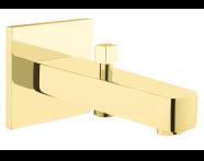 A4239323IND - Flo S Bath Spout, With Handshower Outlet, Gold