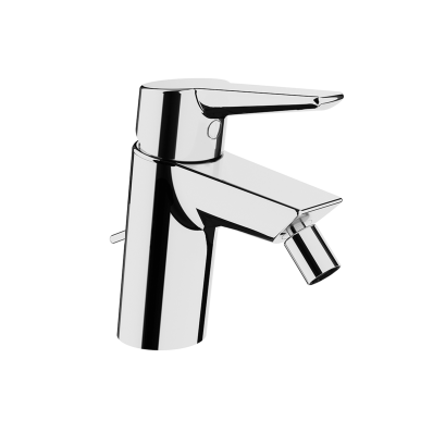 Solid S Bidet Mixer, (With Pop-Up), Chrome